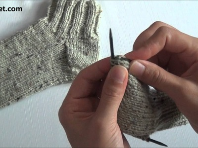 How to knit socks - video tutorial