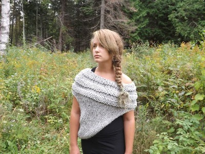"How to Knit  ""The Katniss Inspired Cowl or Wrap"""