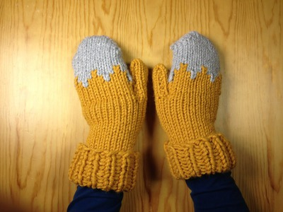 How to Loom Knit a Pair of Gloves. Mittens (DIY Tutorial)
