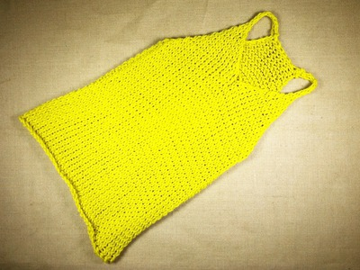 How to Loom Knit a Tank Top (DIY Tutorial)