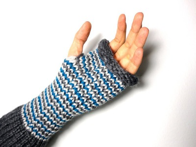 How to Loom Knit Fingerless Mittens (DIY Tutorial)
