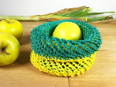 How to Loom Knit Two-sided Baskets (DIY Tutorial)