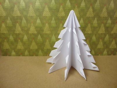 How to Make a 3D Paper Xmas Tree (DIY Tutorial)