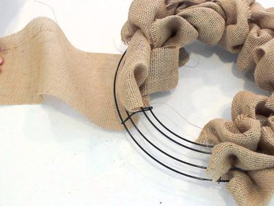 How to make a Burlap Wreath   2 Minute Tutorial