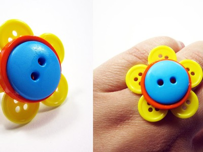 How to make a button flower ring - EP