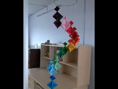 How to make A Colorful Wind Chime - DIY Home Decoration Ideas
