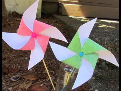 How to make a Pinwheel that Spins! EZ Tutorial!