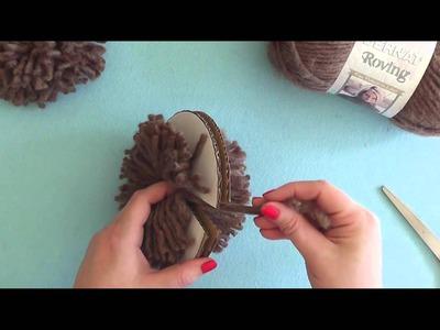 How To: Make a Pompom with a Cardboard Disc