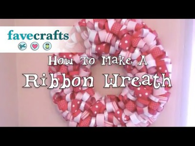 How to Make a Ribbon Wreath