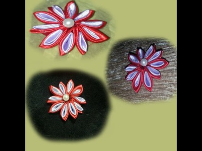 * How to Make Amazing Satin Ribbon Flowers - Tutorial .