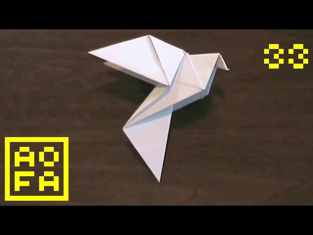 How to make an Origami Dove for Easter. Peace Day (by Alice Gray) . for all (33)