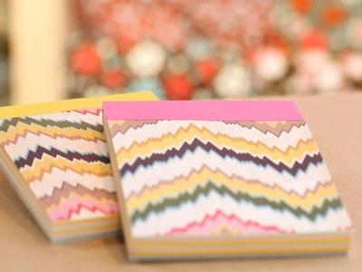 How to Make DIY Paper Notepads || KIN DIY