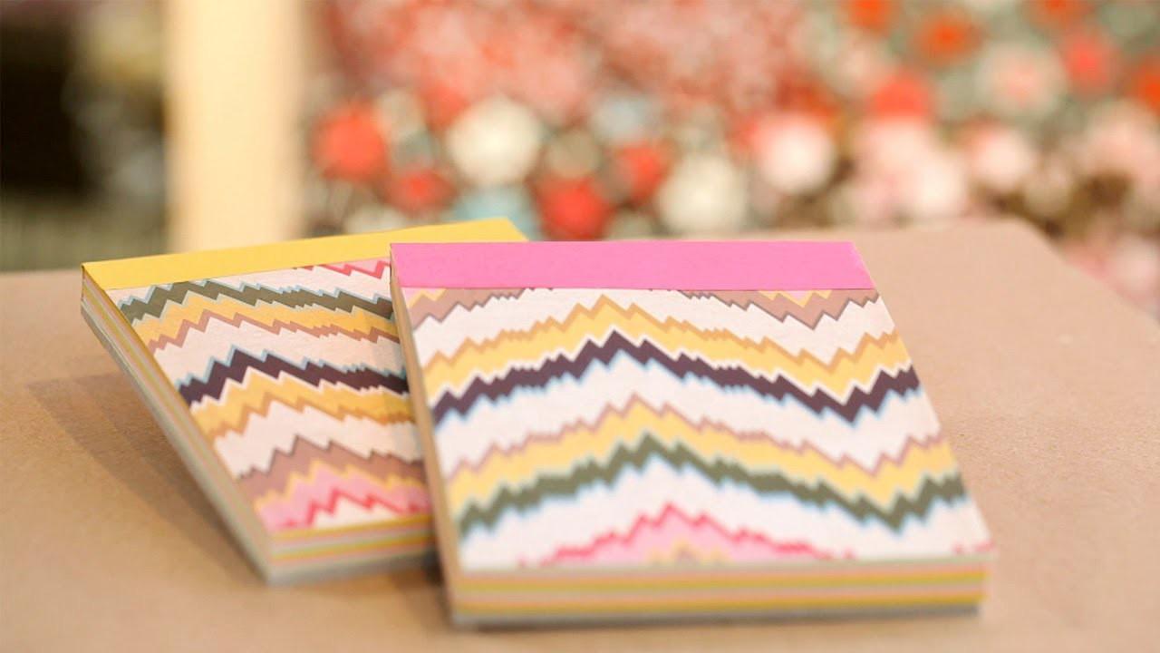 How to Make DIY Paper Notepads    KIN DIY