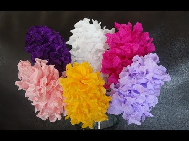 How to make easy paper flowers. DIY Valentine's day craft