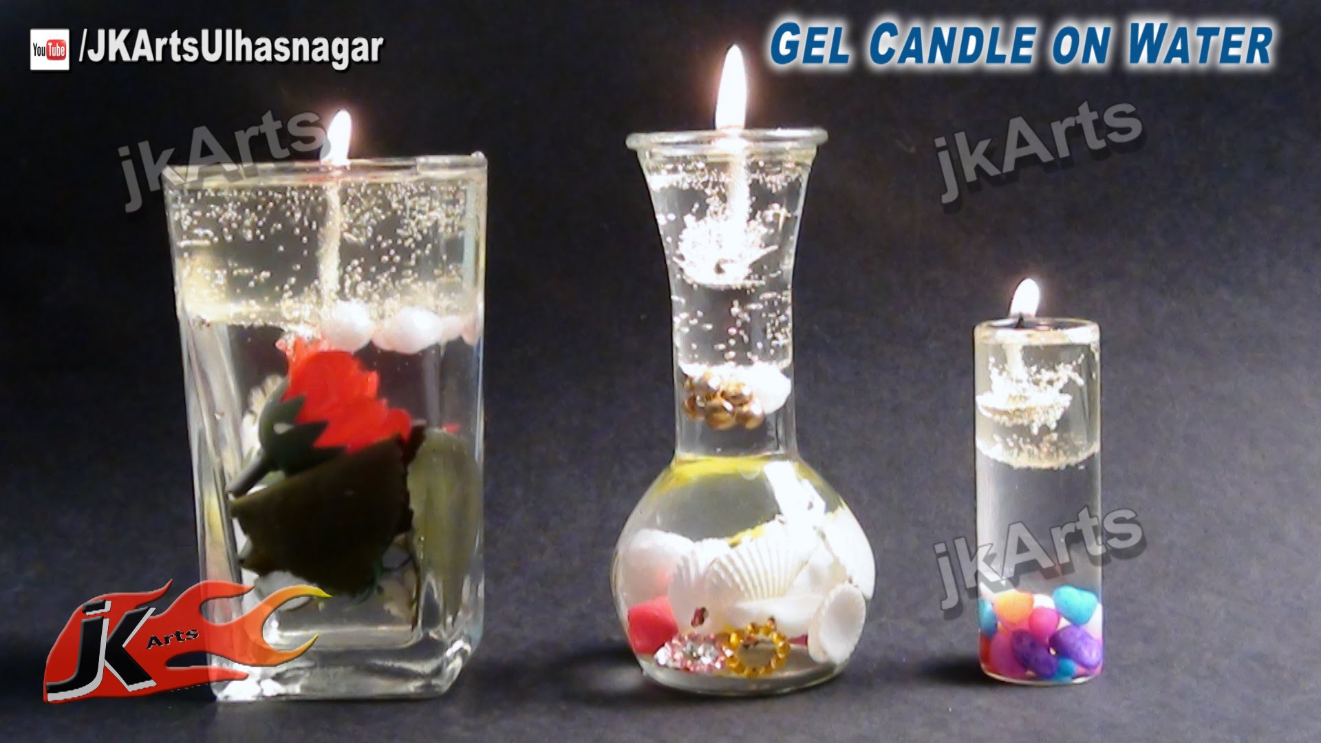 HOW TO: make Gel Candle on Water - JK Arts  522