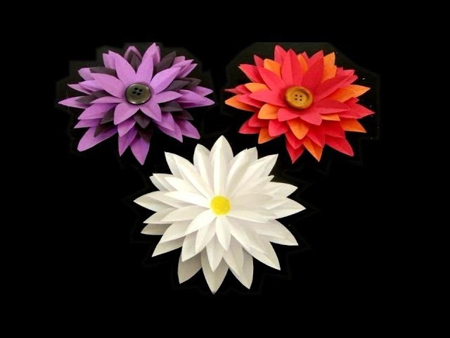 How to make: Paper Flower Tutorial