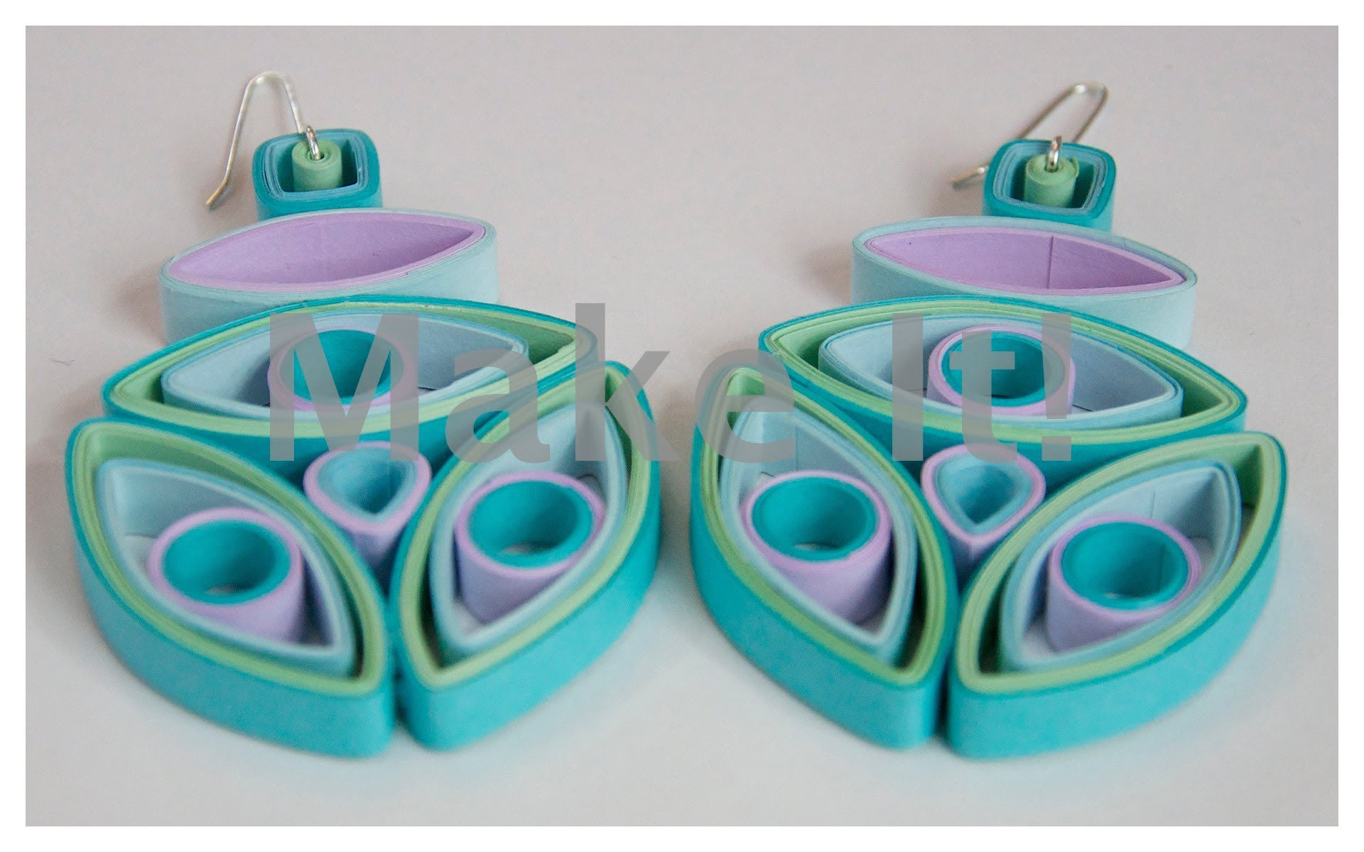 How to Make Quilled - Third Eye Quilled Earrings Tutorial - Modern Quilling #1