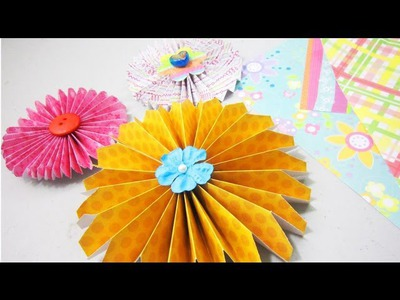 How to make simple paper rosettes  (✿ ♥‿♥) - EP