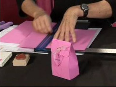 How to Make Valentine's Day Crafts : Scoring Paper for a Scored Valentine's Day Box
