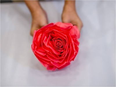 How to make WE LOVE SG FLOWERS? (Large size used plastic bag)