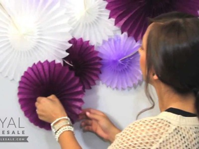 How To: Paper Pinwheels Backdrop for Weddings and Dessert Tables
