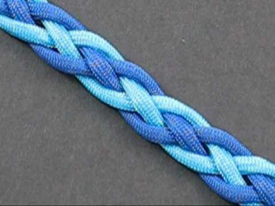 How to Tie a Two Color Snake Weave by TIAT