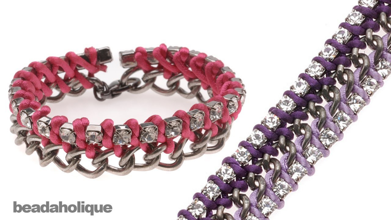 How to Tie Rhinestone Cup Chain onto Curb Chain
