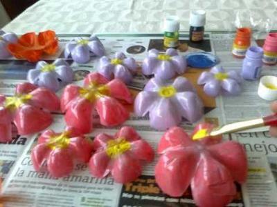 IDEA : Cortina Flores PET ( botellas plasticas )