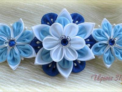 Канзаши. Flowers.Цветы из ткани.