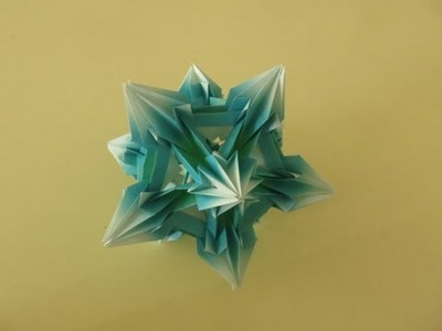 Kusudama - modular origami - Spides: icosahedron - tutorial - dutchpapergirl