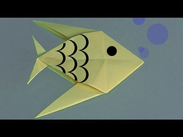 Learn origami, make a paper Fish