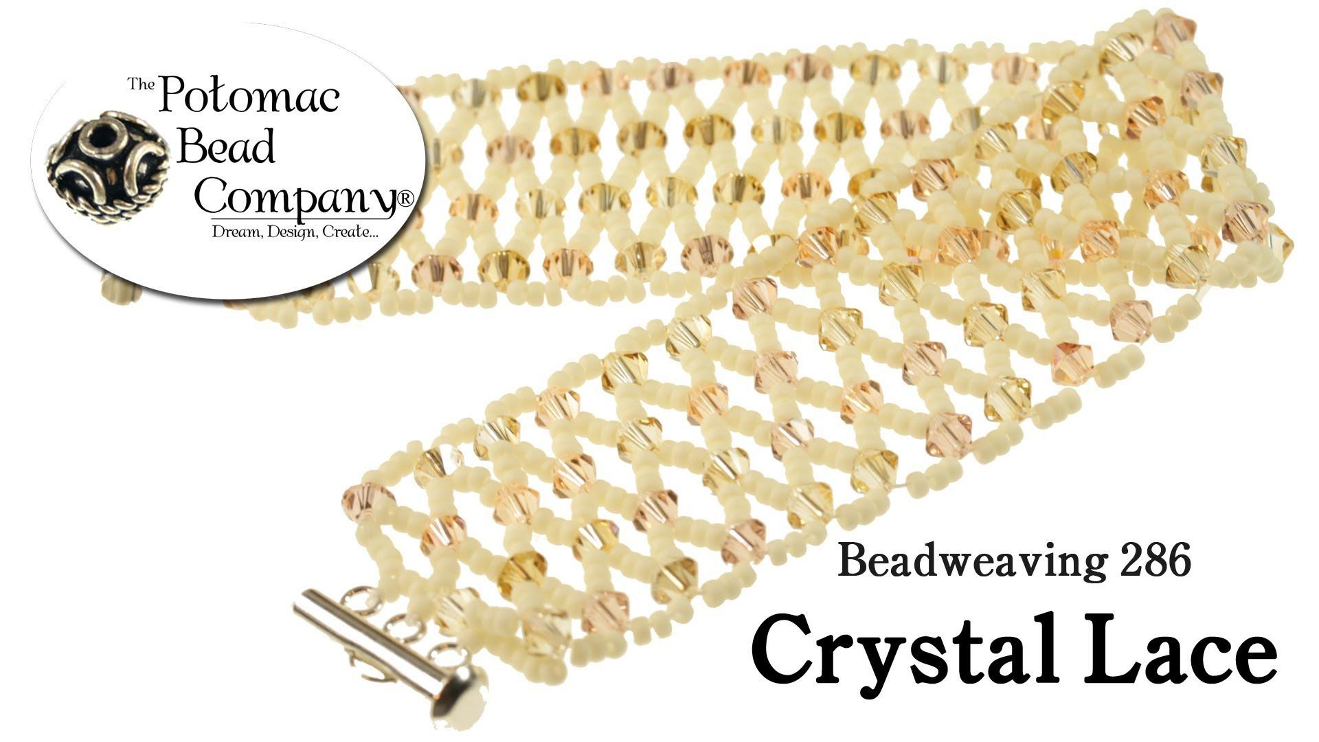 Make a Crystal Lace Bracelet