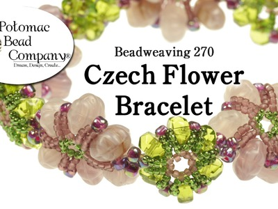 Make a Czech Flower Bracelet