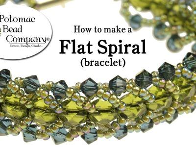 Make a Flat Spiral Bracelet