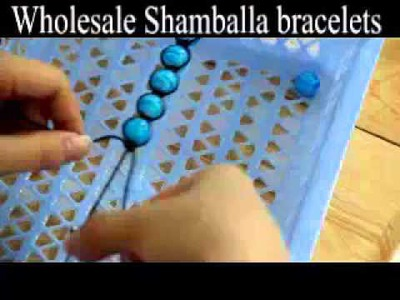 Make shamballa macrame bracelets with your own beads in 15 minutes, step to step guide.