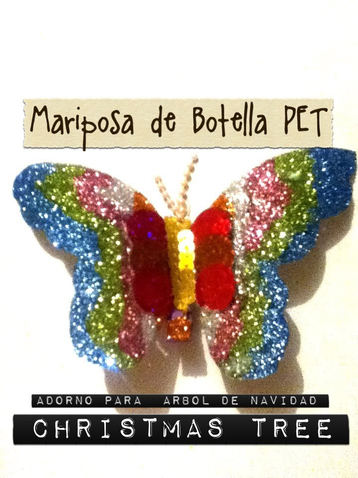 Mariposa Pet Botella decoración arbol de Navidad Tree Christmas