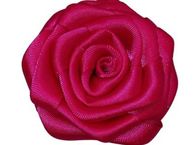No Sew Ribbon Rose Easy Hair Clip DIY