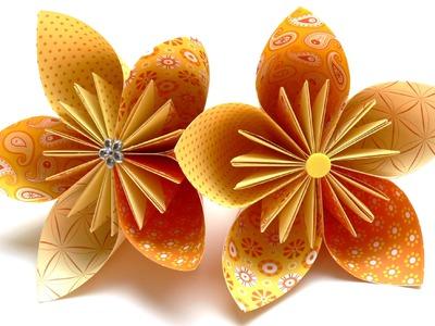 Origami Blumen falten - #03 Fleurogami Blüte