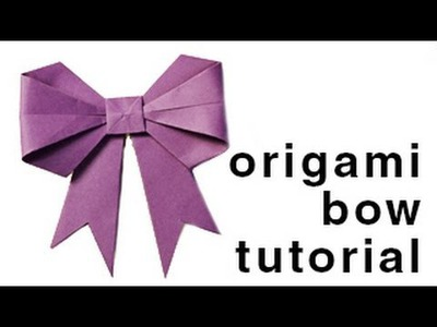 Origami - How to make a paper Bow.Ribbon
