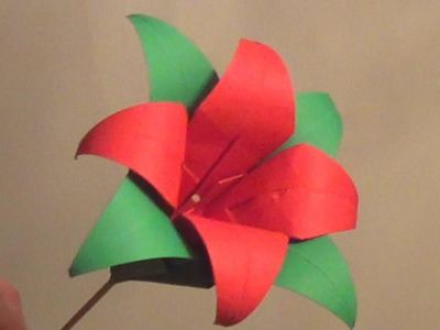 Origami Lily Flower - How to make an Origami Lily Flower