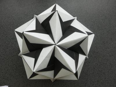Origami - modular - kusudama - ciclone (Tadashi Mori) - tutorial - dutchpapergirl