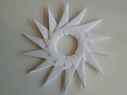 Origami: Spitzer Stern