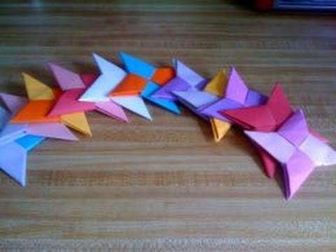 Paper Crafts: How to Make a Paper Shuriken (Ninja Throwing Star) [Part 1.2]