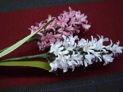 Paper flower hyacinth