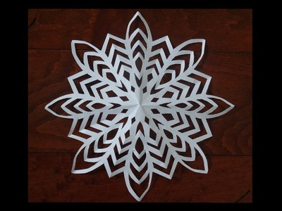 Paper snow flake challenge - Lets see who can do it - Detailed tutorial