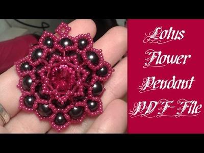 PDF-file Lotus Flower Pendant by HoneyBeads