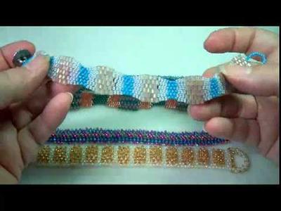Peyote Bracelets by Beaded Jewelry Diva