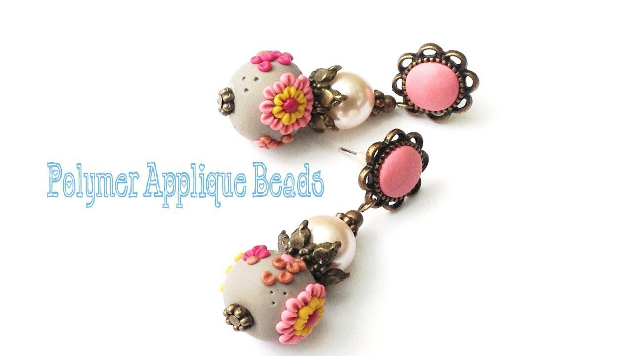 Polymer Clay Applique Tutorial - How To Make Applique Beads
