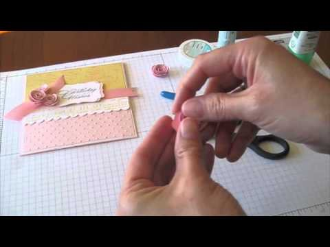 Quilled Flowers for Cards and Paper Crafts