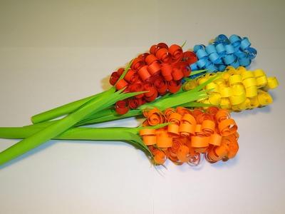 Quilling - kolorowe kwiaty z papieru
